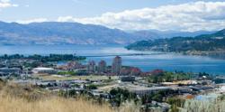 Image: panoramic view of Kelowna, BC, Canada