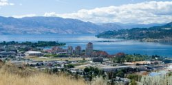 Image: panoramic view of Kelowna, BC, Canada
